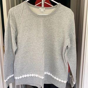 J. Crew Sweatshirt with dot trim
